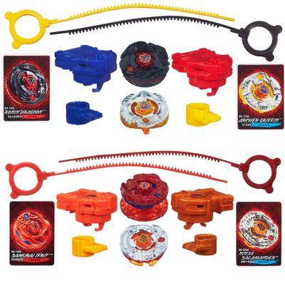 100072152-100080360-Kit-Piao-Beyblade-Shogun-Steel---Archer-Griffin-VS-Ronin-Dragoon-e-Samurai-Ifrit-VS-Ninja-Salamander---Hasbro