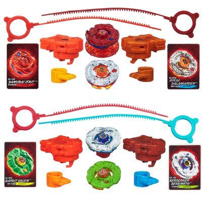 100080360-100080367-Kit-Piao-Beyblade-Shogun-Steel---Samurai-Ifrit-VS-Ninja-Salamander-e-Bandit-Golem-VS-Berserker-Behemoth---Hasbro