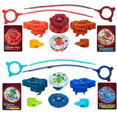 100080360-100080364-Kit-Piao-Beyblade-Shogun-Steel---Samurai-Ifrit-VS-Ninja-Salamander-e-Guardian-Leviathan-VS-Pirate-Orochi---Hasbro