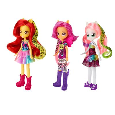 Bonecas My Little Pony - Equestria Girls - Wild Rainbow - Sweetie Belle, Scootaloo, e Apple Bloom - Hasbro