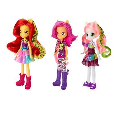 Bonecas My Little Pony - Equestria Girls - Wild Rainbow - Sweetie Belle, Scootaloo, e Apple Bloom - Hasbro