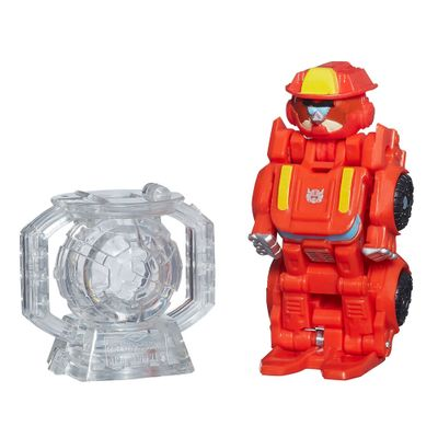 Figura Telepods Angry Birds Transformers - Heatwave The Fire-Bot Bird - Hasbro