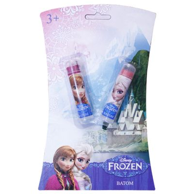 Conjunto Batom Elevador Roxo e Rosa - Disney Frozen - Homebrinq