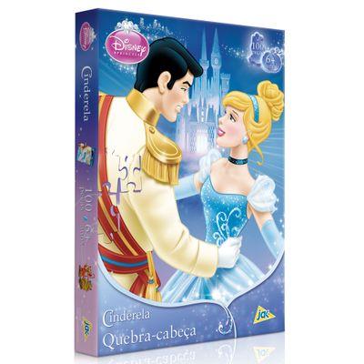 1102-Quebra-Cabeca-Princesa-Disney-Cinderela-100-Pecas-Toyster