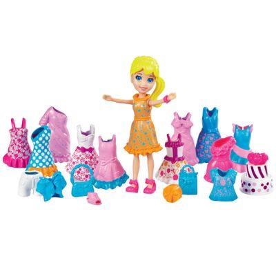 Boneca Polly Pocket - Looks Especiais - Festa de Aniversário - Mattel