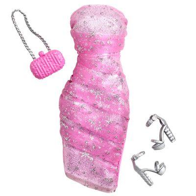 CFX92-Roupinha-para-Bonecas-Barbie-Vestido-de-Gala-Rosa-Mattel