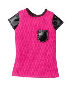 CFX73-Roupinha-para-Boneca-Barbie-Blusa-Rosa-e-Preta-Mattel