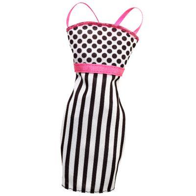 CFX65-Roupinha-para-Boneca-Barbie-Vestido-Rosa-Branco-e-Preto-Mattel