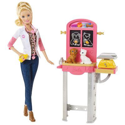 Boneca Barbie - Profissões - Veterinária - Mattel