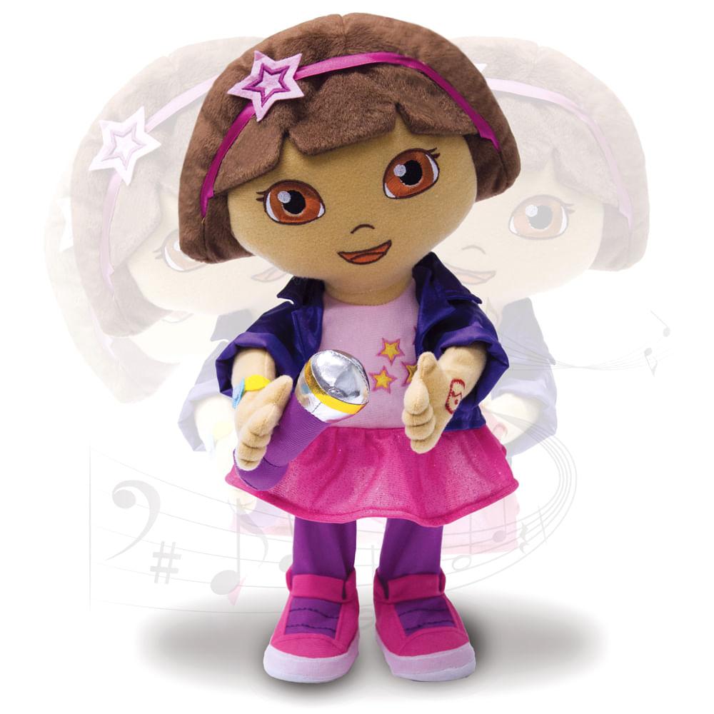 Boneca de Pelúcia - Dora, a Aventureira - Festa Musical - Multibrink