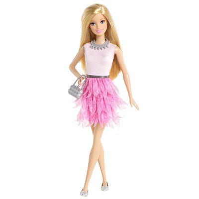 Boneca Barbie Fashionistas - Balada - Babados Rosa - Mattel
