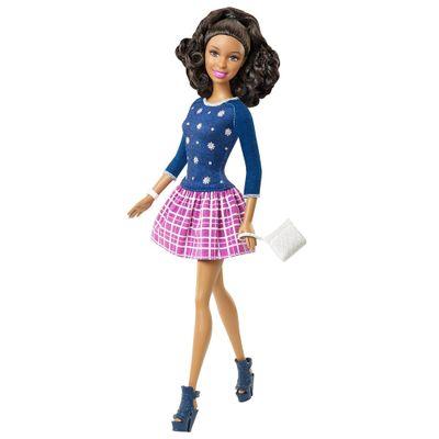 Boneca Barbie Fashionistas - Balada - Nikki Conjunto Azul e Rosa - Mattel