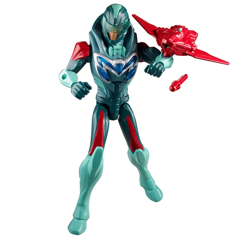 Boneco Max Steel - Ataque Turbo Voo - Mattel