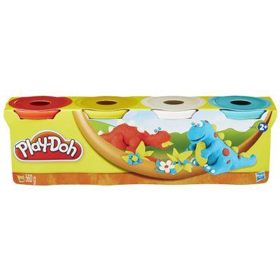 Massinha Play-Doh - 4 Potes Dinossauros - Hasbro