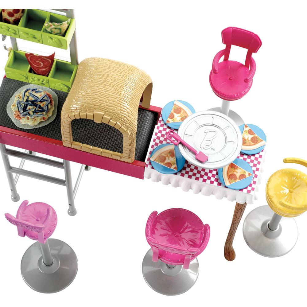 Pizzaria Barbie Family - Três é Demais - Mattel