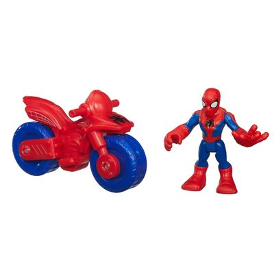 Boneco com Veículo - Marvel Super Hero - Spider-Man - Playskool