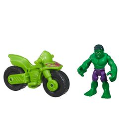 Boneco-com-Veiculo---Marvel-Super-Hero---Hulk---Playskool-2