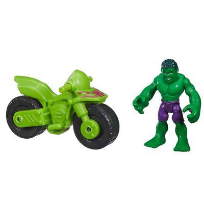 Boneco com Veículo - Marvel Super Hero - Hulk - Playskool