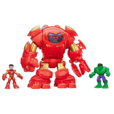 Figuras de Ação Playskool - Marvel Super Hero Adventures - Hulkbuster - Hasbro - Disney