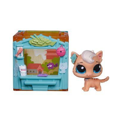 Playset Littlest Pet Shop - Cubo Temático - Meow Meow Milkone - Hasbro