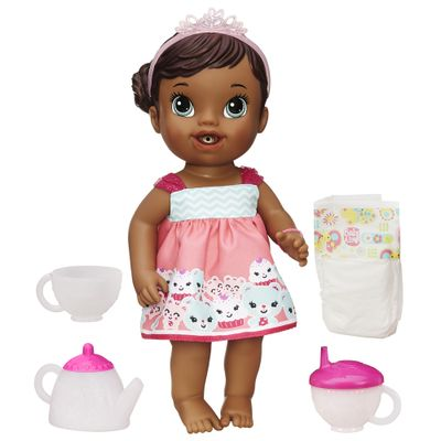 Boneca Baby Alive Negra -  Hora do Chá - Hasbro - Boneca Baby Alive Negra - Hora do Chá - Hasbro