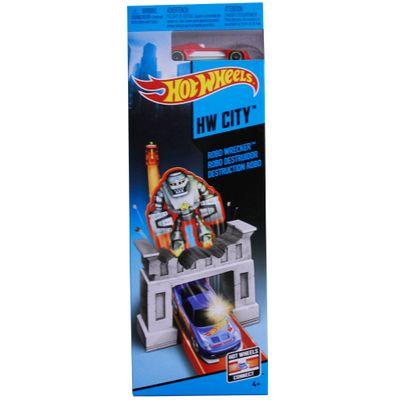 Pista Básica Hot Wheels - Destruição Robo - Mattel