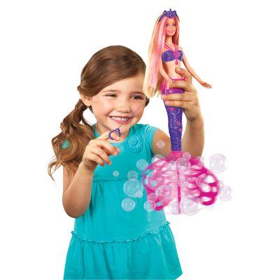 Boneca Barbie - Reinos Mágicos - Sereia - Bolhas Mágicas - Mattel