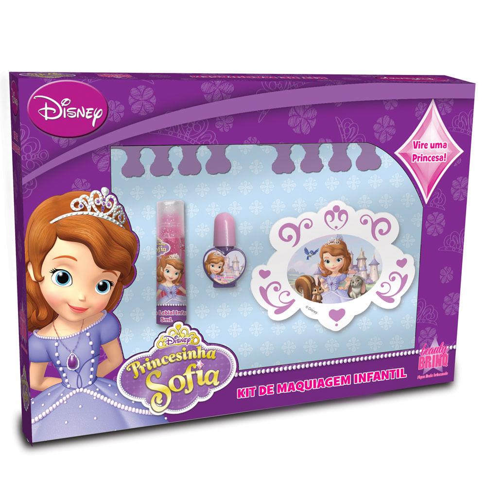 Kit de Maquiagens Infantil - Disney Sofia - Homebrinq