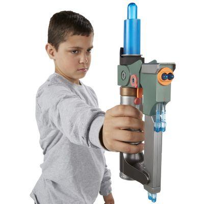 Sabre de Luz Eletrônico 2 em 1 - Star Wars Rebels - Ezra Bridger - Sabre e Pistola - Hasbro - Disney