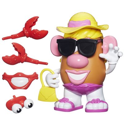 Figura Mashups Playskool - Mrs. Potato Head - Batatinha de Praia - Hasbro