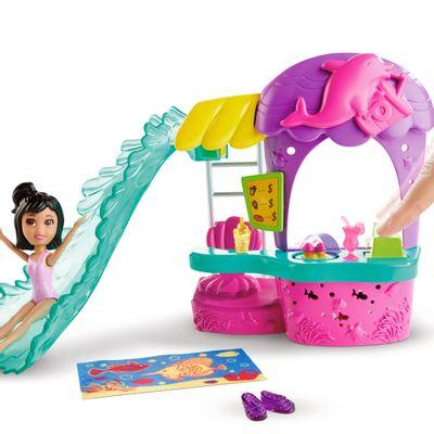 Playset Polly Pocket - Lanchonete Parque Aquático - Mattel
