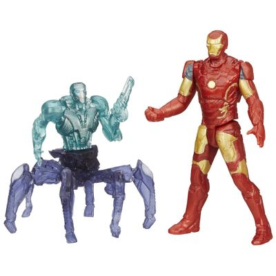 Boneco Marvel Avengers - Age of Ultron 6,35 cm - Iron Man Mark 43 vs Sub-Ultron 001 - Hasbro - Disney