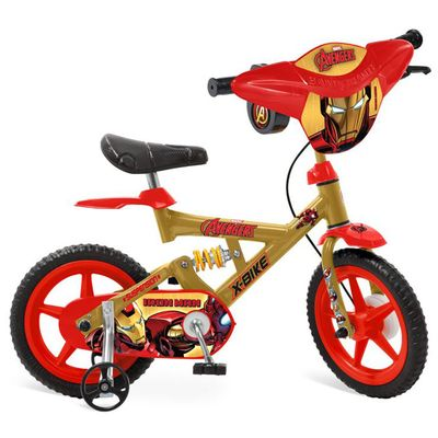 Bicicleta X-Bike Aro 12 - The Avengers - Iron Man - Bandeirante