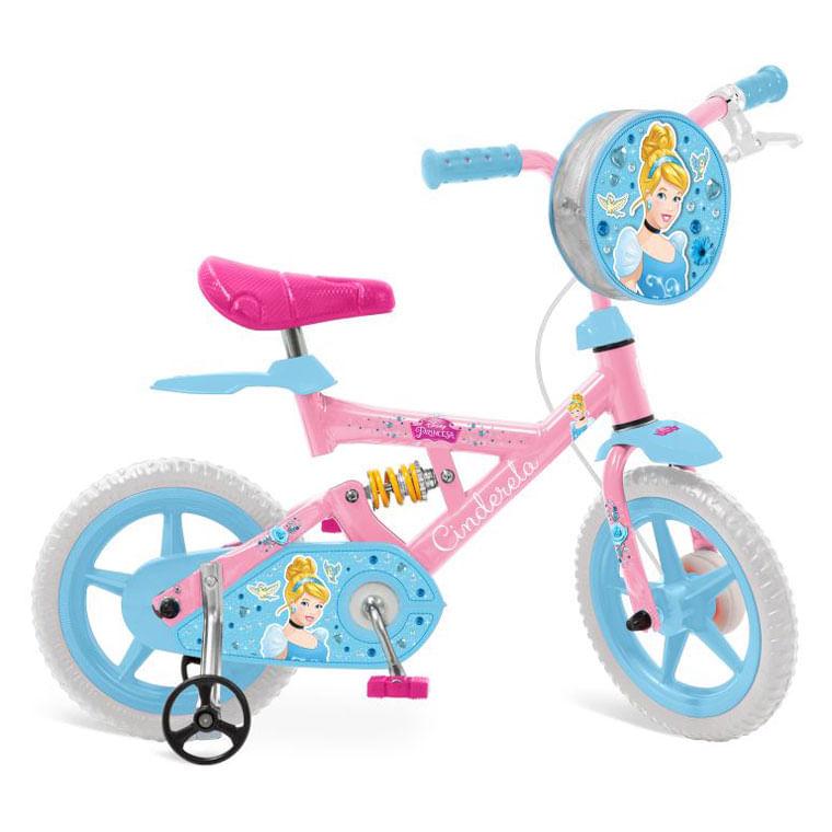 Bicicleta X - Bike Aro 12 - Princesas Disney - Cinderela - Bandeirante