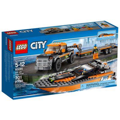 60085 - LEGO City - 4x4 com Barco a Motor