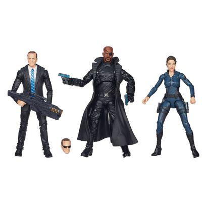 Bonecos-Marvel-Legends-15-cm---Maria-Hill-Nick-Fury-e-Agent-Carter---Hasbro