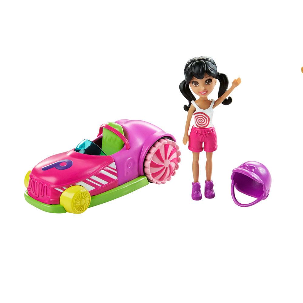 Boneca Polly Pocket - Parque de Diversões - Carrinho Bate Bate e Crissy - Mattel Boneca Polly Pocket - Parque de Diversões - Carrinho Bate Bate e Crissy - Mattel