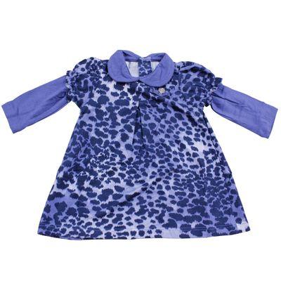 Vestido-de-Oncinha-com-Calcinha---Azul---Baby-Classic---GBaby