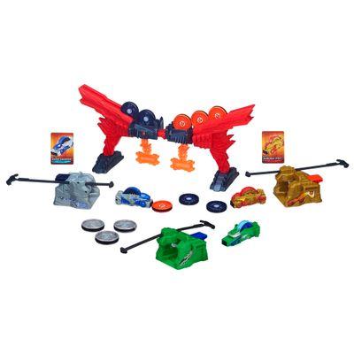 Kit-Beyblade-Set-Batalha---Portal-de-Fogo---Veiculo-Beyblade-Beyraiderz---Beywarriors---Berserker-Byakko-–-Hasbro
