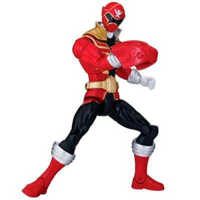 Boneco Power Ranger Super Megaforce 30 cm - Ranger Vermelho Armadura Super Mega - Sunny