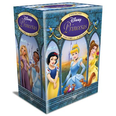 DVDs---Colecao-Disney-Princesas---Volume-1---5-Filmes