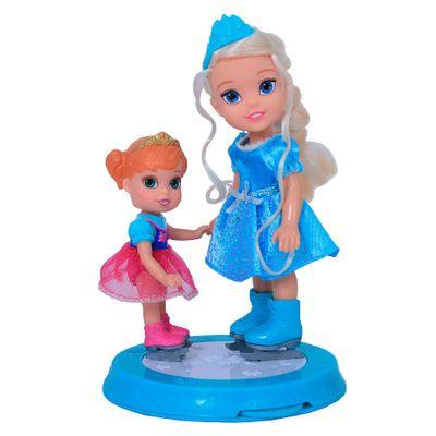 Bonecas Disney Frozen - Anna 15 cm + Elsa 10 cm - Sunny