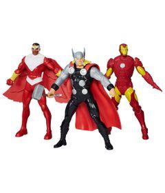 Kit-Bonecos-Avengers---Marvel---Herois-Poderosos---15-cm---Hasbro