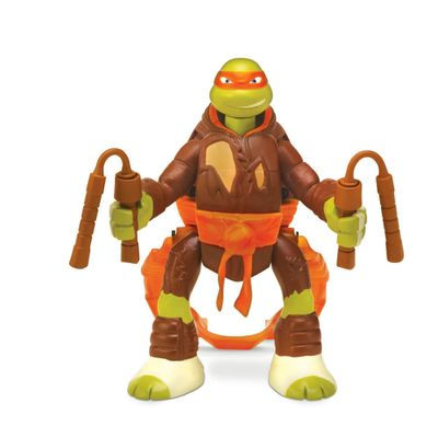 Boneco Tartarugas Ninjas Throw In Battle - Michelangelo - Multikids