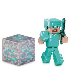 Figura-Minecraft---Diamond-Steve-Com-acessorios---Multikids
