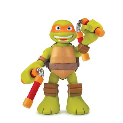 Boneco Tartarugas Ninjas Half Shell Hero - Figura Com Som - Michelangelo - Multikids