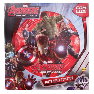 Bateria-Acustica---Avengers---Yellow