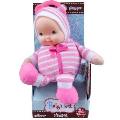 Boneca Baby's First - Mobile e Chocalho - Rosa - New Toys