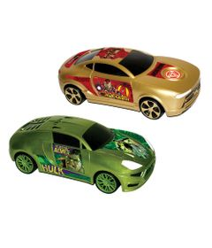 Carros-de-Friccao-Avengers---116---Hulk-e-Iron-Man---Yellow