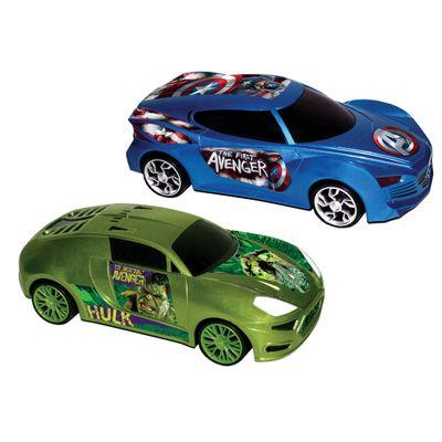 Carros-de-Friccao-Avengers---116---Hulk-e-Capitao-America---Yellow